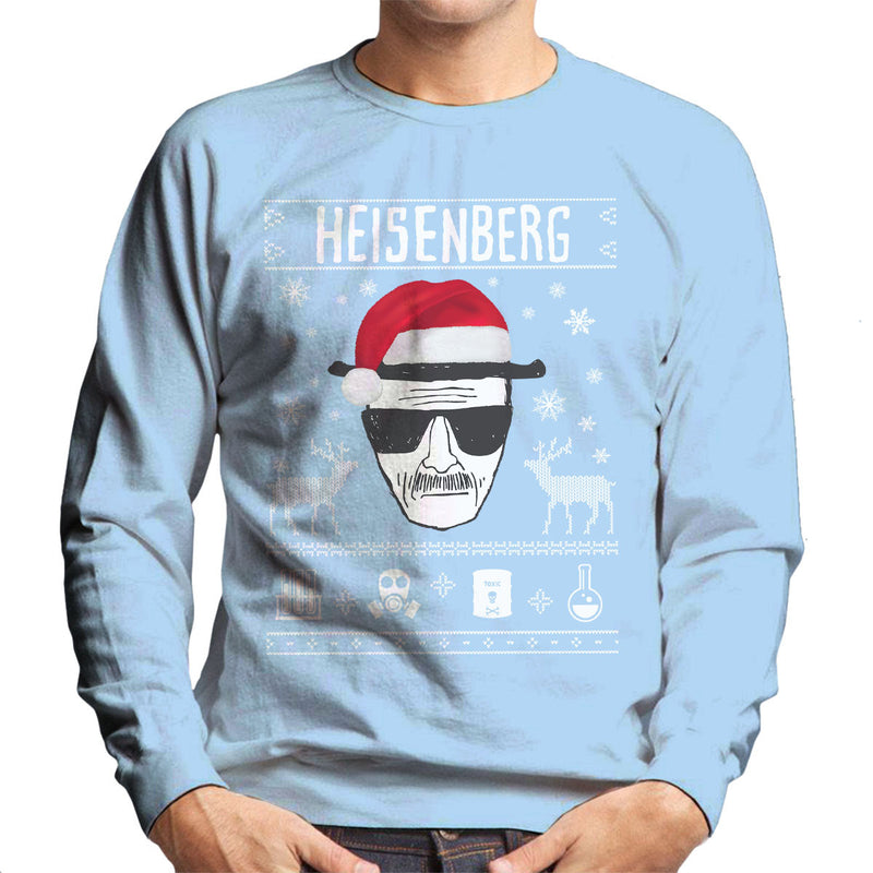 Breaking Bad Heisenberg Christmas Men's Sweatshirt by Spudhead - Cloud City 7