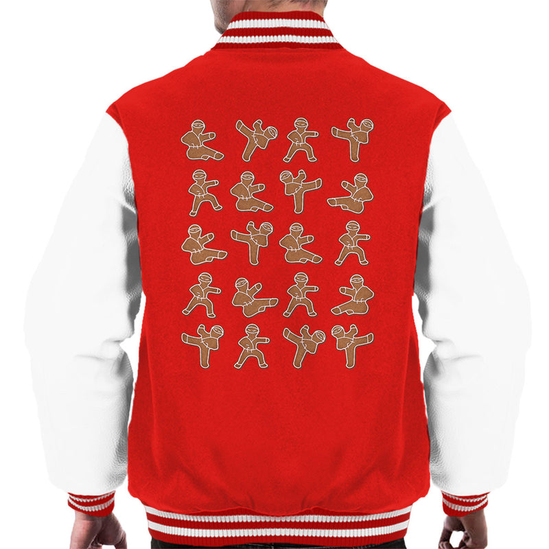 Gingerbread Man Ninjas Christmas Men's Varsity Jacket