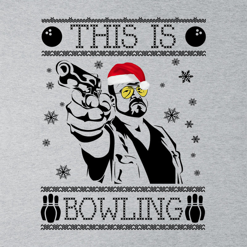 Big Lebowski This Is Bowling Christmas Knit Men's Vest by Spudhead - Cloud City 7
