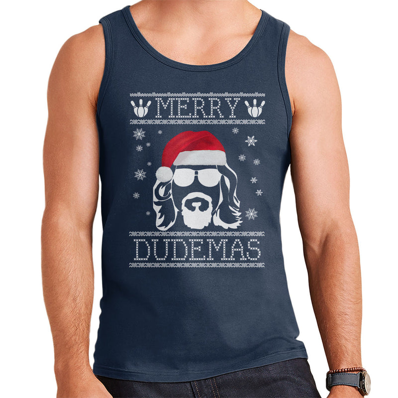 Big Lebowski Merry Dudemas Christmas Knit Men's Vest