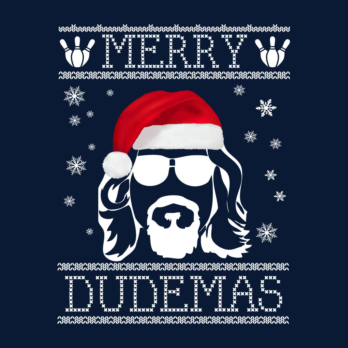 Big Lebowski Merry Dudemas Christmas Knit