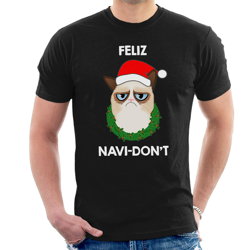 Feliz Navi-Don't Christmas Cat White by Hilarious Delusions - Cloud City 7