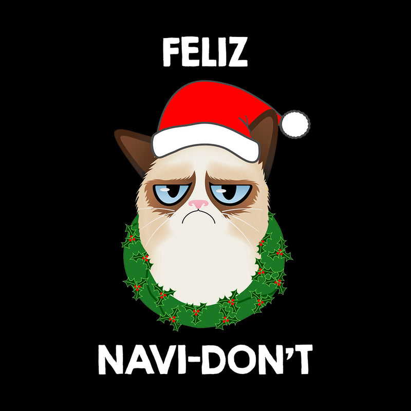 Feliz Navi-Don't Christmas Cat White