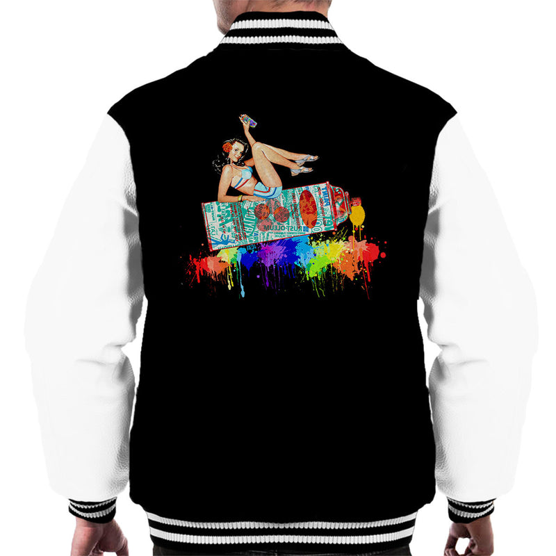 Graffiti Pin Up Men's Varsity Jacket by Hilarious Delusions - Cloud City 7