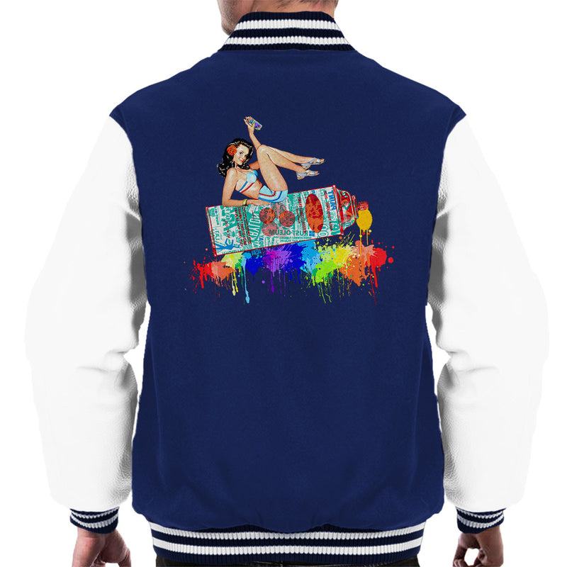 Graffiti Pin Up Men's Varsity Jacket