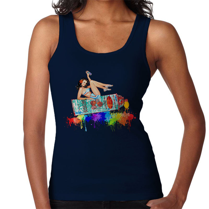 Graffiti Pin Up Women's Vest by Hilarious Delusions - Cloud City 7