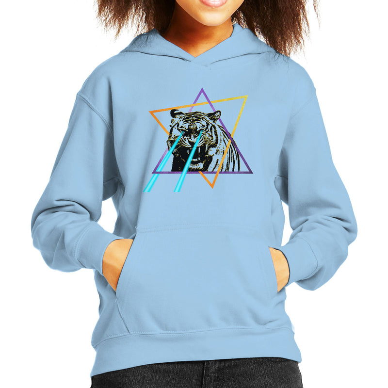 Laser Tiger Star Kid's Hooded Sweatshirt by Hilarious Delusions - Cloud City 7