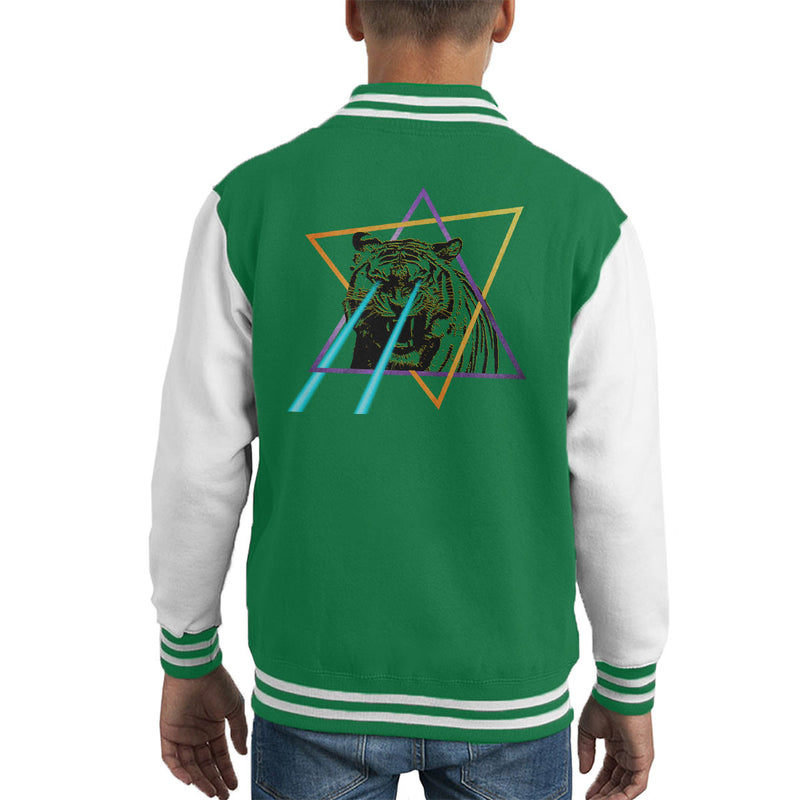 Laser Tiger Star Kid's Varsity Jacket by Hilarious Delusions - Cloud City 7