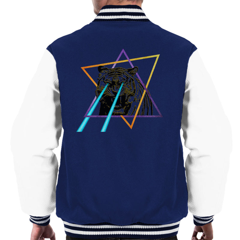 Laser Tiger Star Men's Varsity Jacket by Hilarious Delusions - Cloud City 7