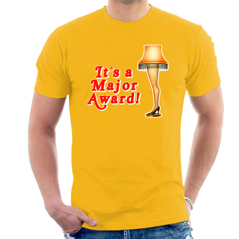 Its A Major Award Christmas Lamp Men's T-Shirt by Hilarious Delusions - Cloud City 7