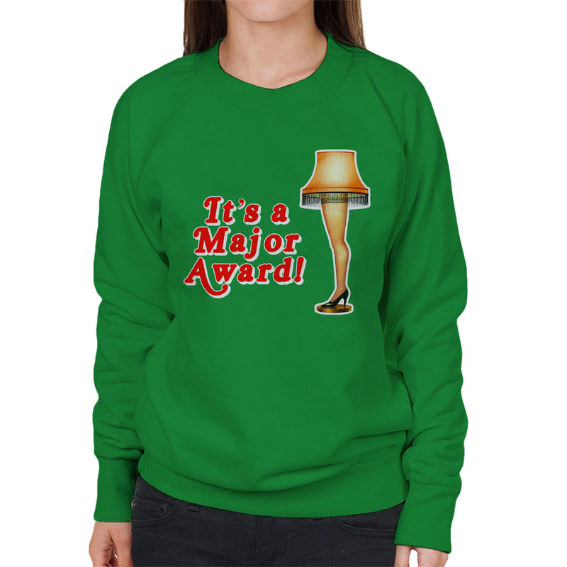 Its A Major Award Christmas Lamp Women's Sweatshirt by Hilarious Delusions - Cloud City 7