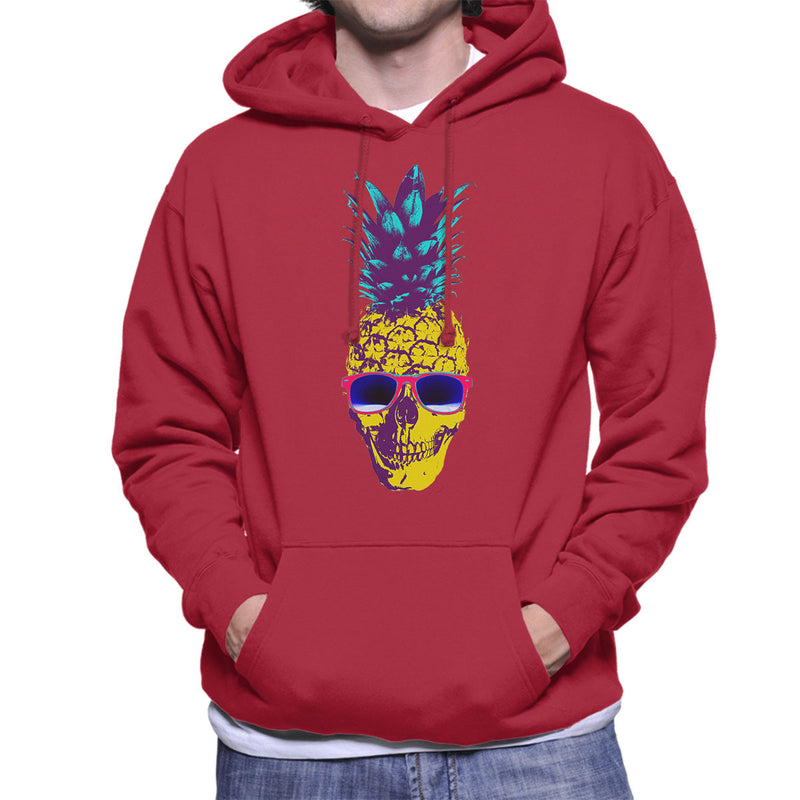 Skull Pineapple Men's Hooded Sweatshirt by Hilarious Delusions - Cloud City 7