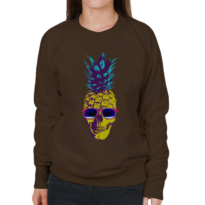 Skull Pineapple Women's Sweatshirt by Hilarious Delusions - Cloud City 7