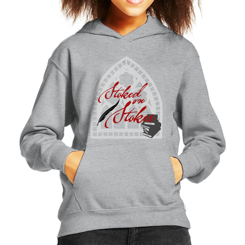 Stoked On Stoker Red Kid's Hooded Sweatshirt by Hilarious Delusions - Cloud City 7