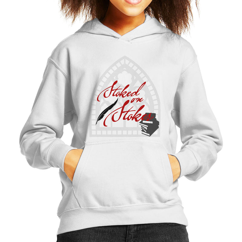 Stoked On Stoker Red Kid's Hooded Sweatshirt