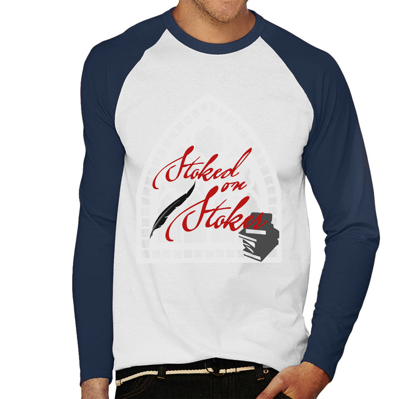 Stoked On Stoker Red Men's Baseball Long Sleeved T-Shirt