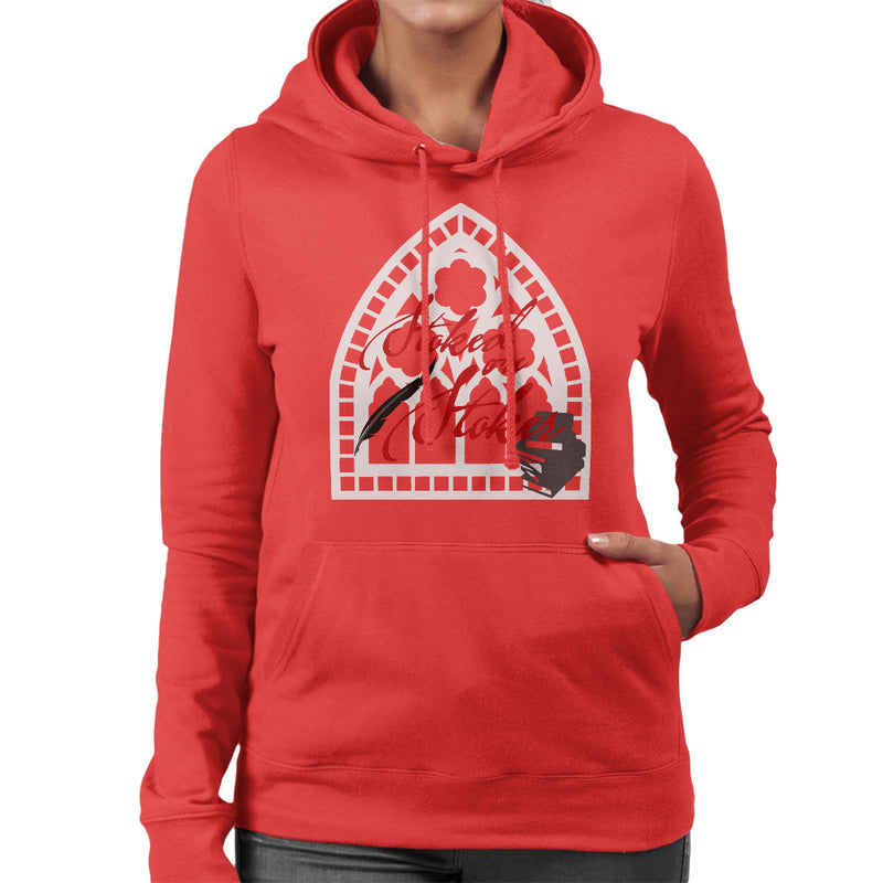 Stoked On Stoker Red Women's Hooded Sweatshirt by Hilarious Delusions - Cloud City 7