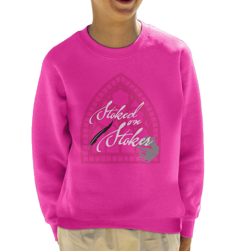 Stoked On Stoker White Kid's Sweatshirt by Hilarious Delusions - Cloud City 7