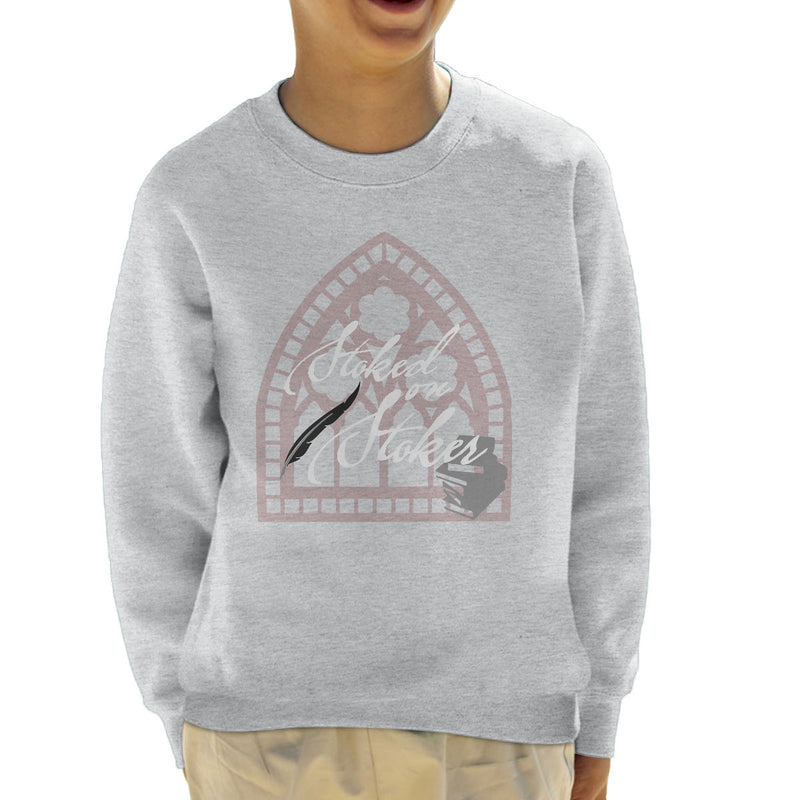 Stoked On Stoker White Kid's Sweatshirt