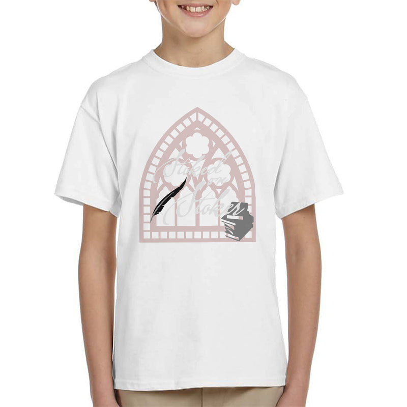 Stoked On Stoker White Kid's T-Shirt by Hilarious Delusions - Cloud City 7