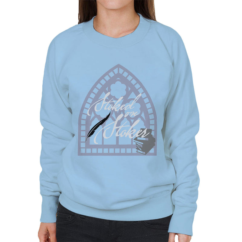 Stoked On Stoker White Women's Sweatshirt by Hilarious Delusions - Cloud City 7