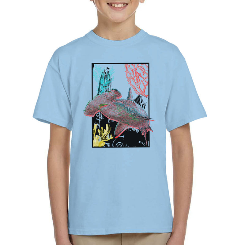 Urban Hammer Shark Kid's T-Shirt by Hilarious Delusions - Cloud City 7