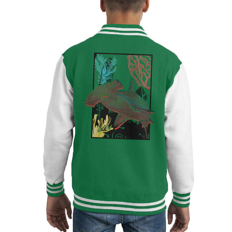 Urban Hammer Shark Kid's Varsity Jacket by Hilarious Delusions - Cloud City 7