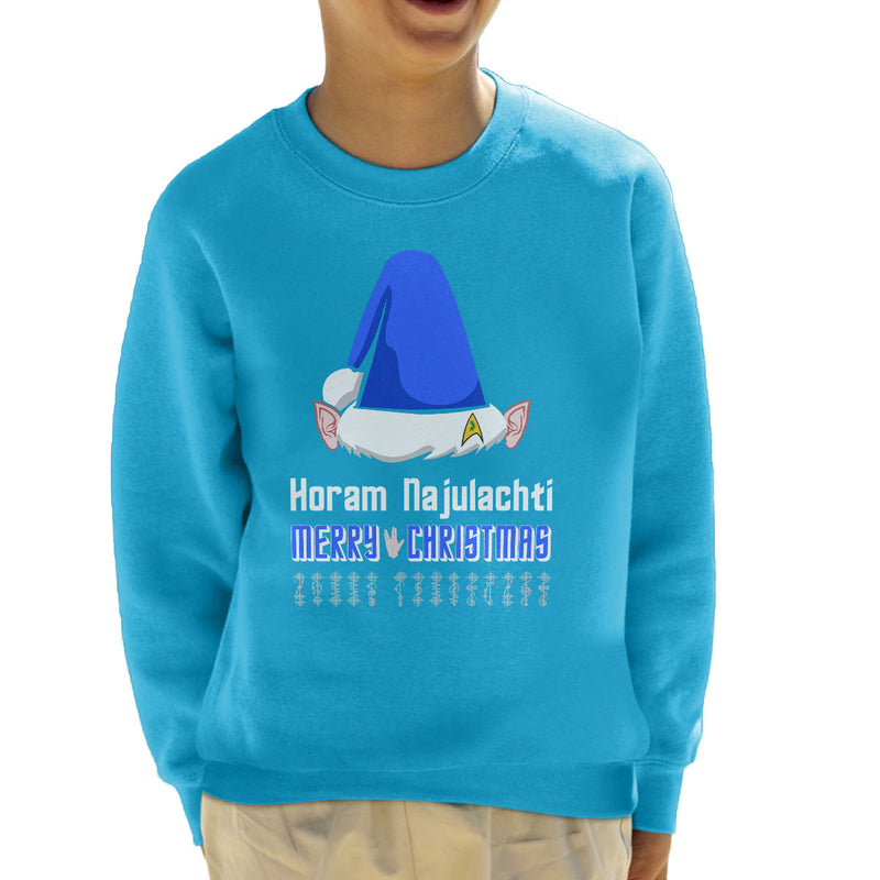 Vulcan Christmas Kid's Sweatshirt by Hilarious Delusions - Cloud City 7