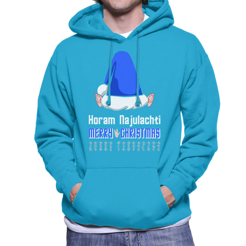 Vulcan Christmas Men's Hooded Sweatshirt by Hilarious Delusions - Cloud City 7