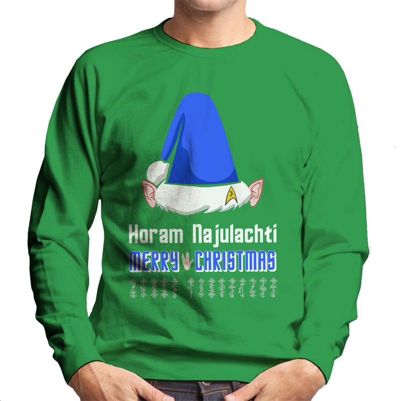 Vulcan Christmas Men's Sweatshirt by Hilarious Delusions - Cloud City 7