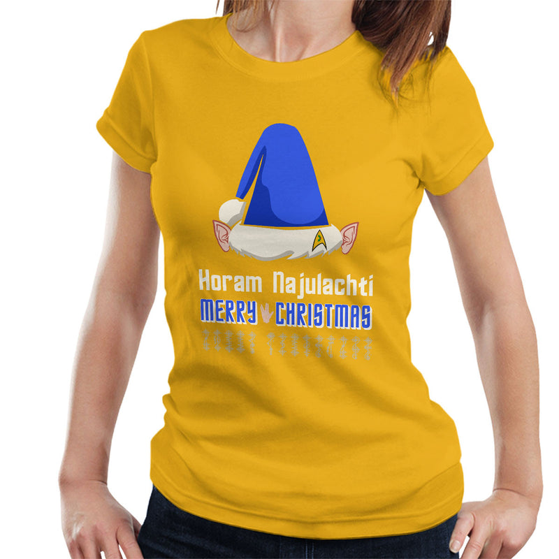 Vulcan Christmas Women's T-Shirt by Hilarious Delusions - Cloud City 7