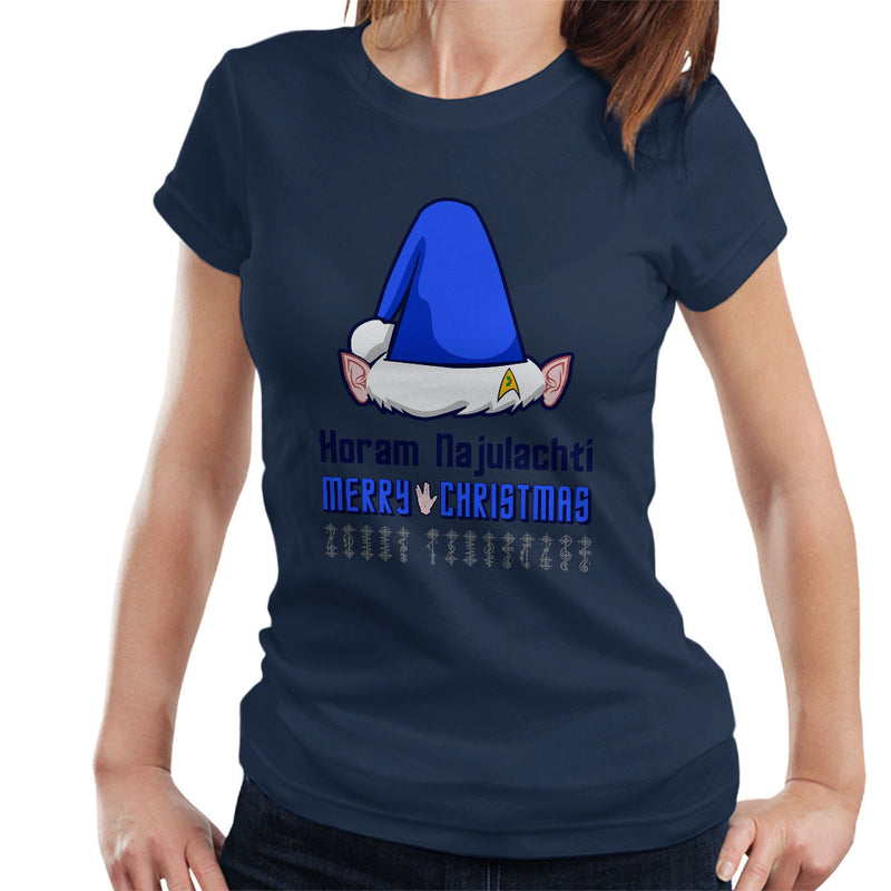 Vulcan Christmas Dark Women's T-Shirt by Hilarious Delusions - Cloud City 7