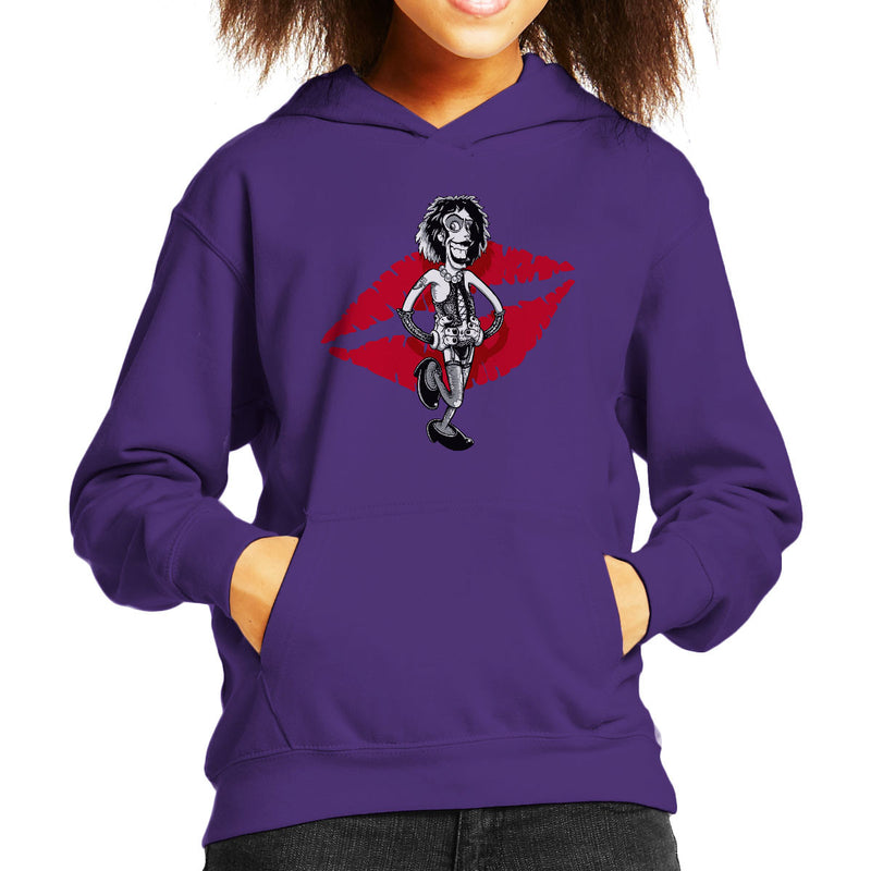 Rocky Horror Picture Show Frank Kid's Hooded Sweatshirt by Bleee - Cloud City 7