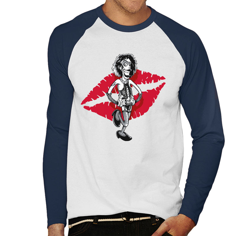 Rocky Horror Picture Show Frank Men's Baseball Long Sleeved T-Shirt by Bleee - Cloud City 7