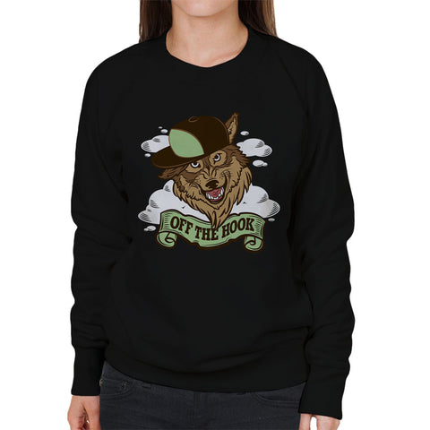 Adventure Time Off The Hook Party God Wolf Women's Sweatshirt