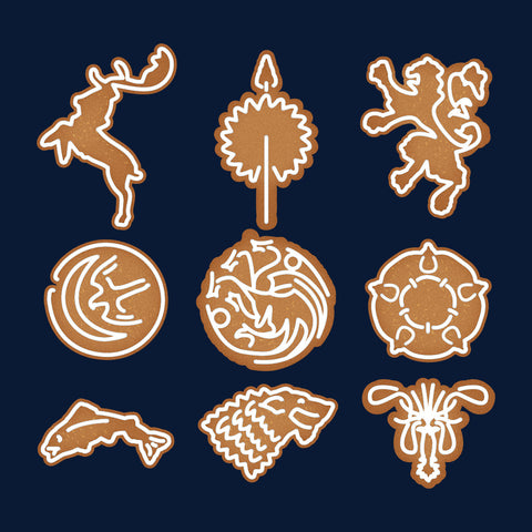 Ginger Bread Game OF Thrones Sigils Christmas