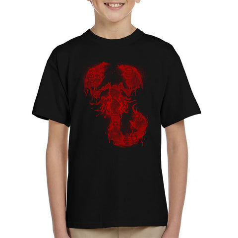 A Dreadful Symbol Halftoned Penny Dreadful Kid's T-Shirt