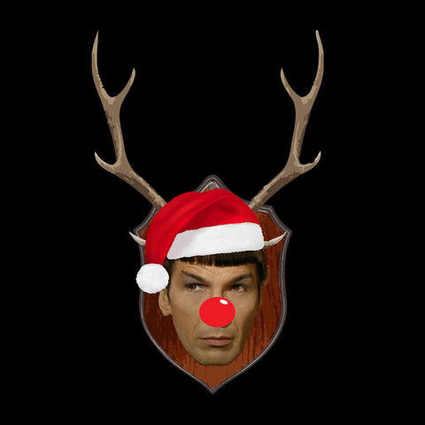 Spock Star Trek Christmas Antler Head
