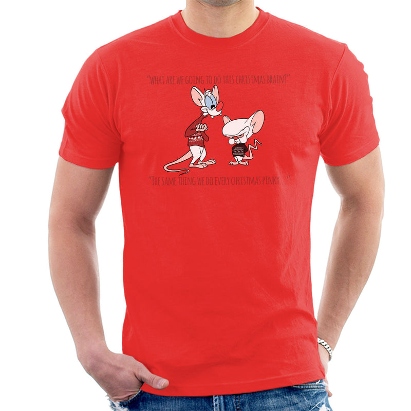 Pinky And The Brain Christmas Plans Men's T-Shirt by DeMilburn - Cloud City 7