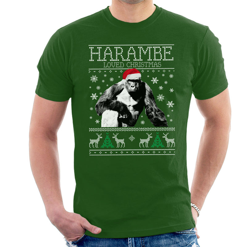 harambe loved christmas knit mens t shirt by cletus courgetti cloud city 7