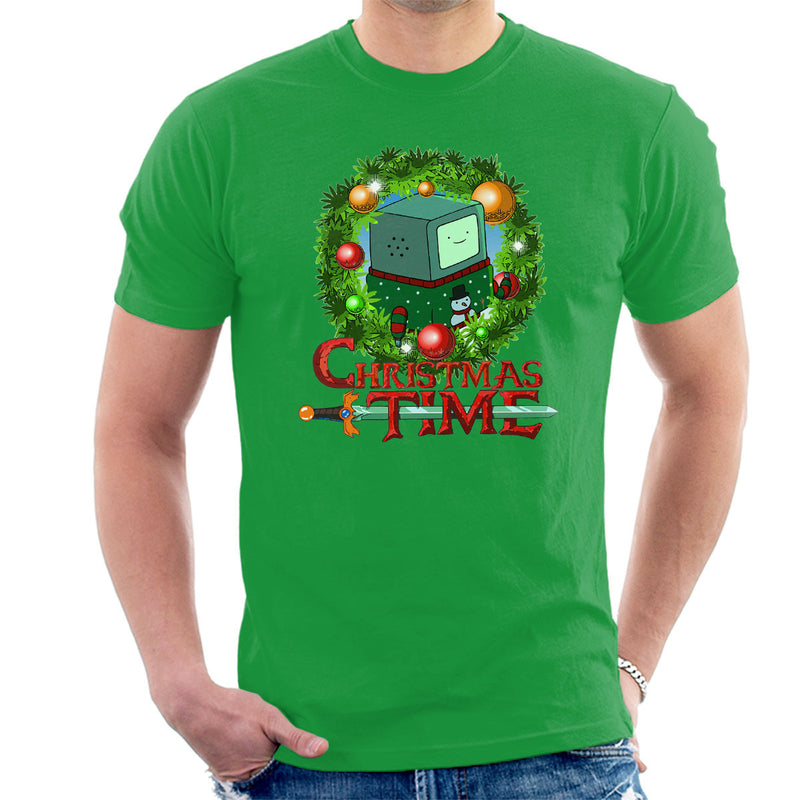 Adventure Christmas Time Wreath Beemo Cartoon Network Men's T-Shirt by MacXi - Cloud City 7