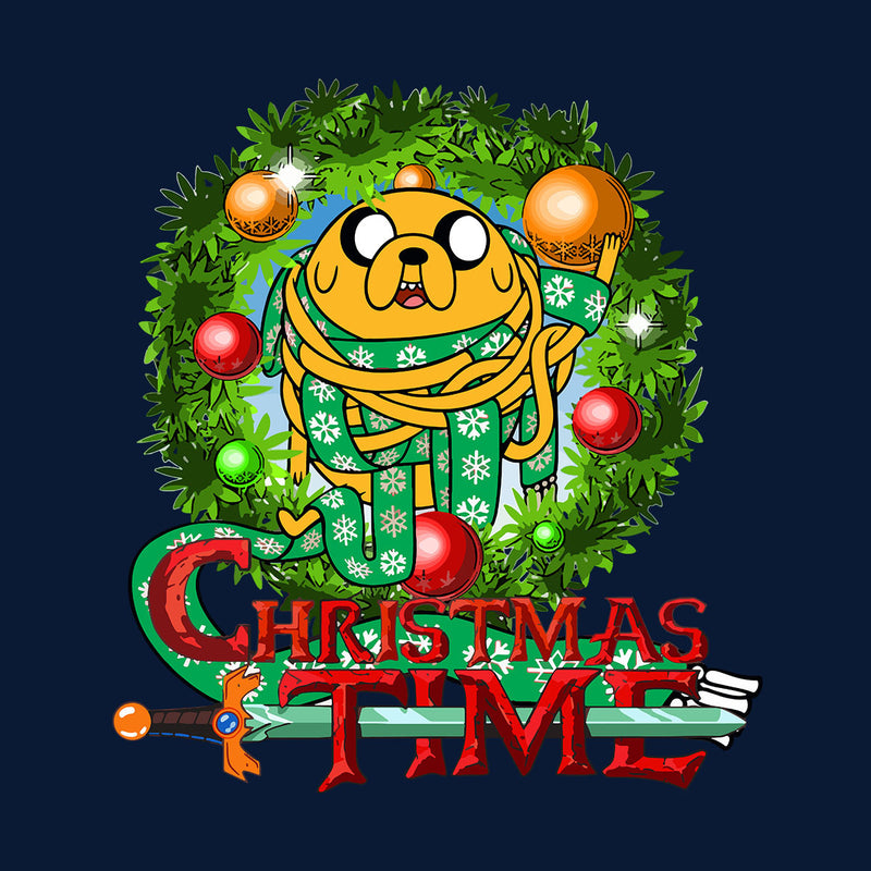 Adventure Christmas Time Wreath Jake Scarf Cartoon Network Men's T-Shirt by MacXi - Cloud City 7
