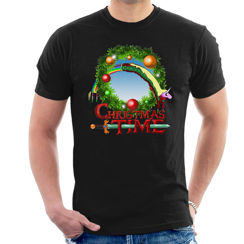 Adventure Christmas Time Wreath Lady Rainicorn Cartoon Network Men's T-Shirt