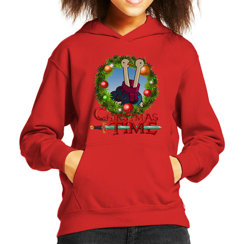 Adventure Christmas Time Wreath Two Headed Duck Cartoon Network Kid's Hooded Sweatshirt by MacXi - Cloud City 7