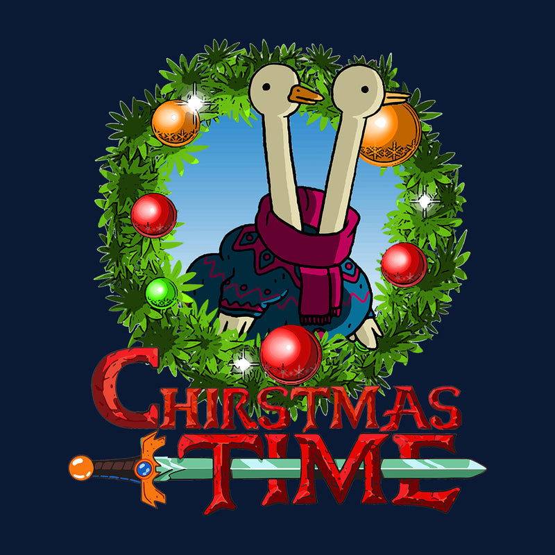 Adventure Christmas Time Wreath Two Headed Duck Cartoon Network Kid's T-Shirt by MacXi - Cloud City 7