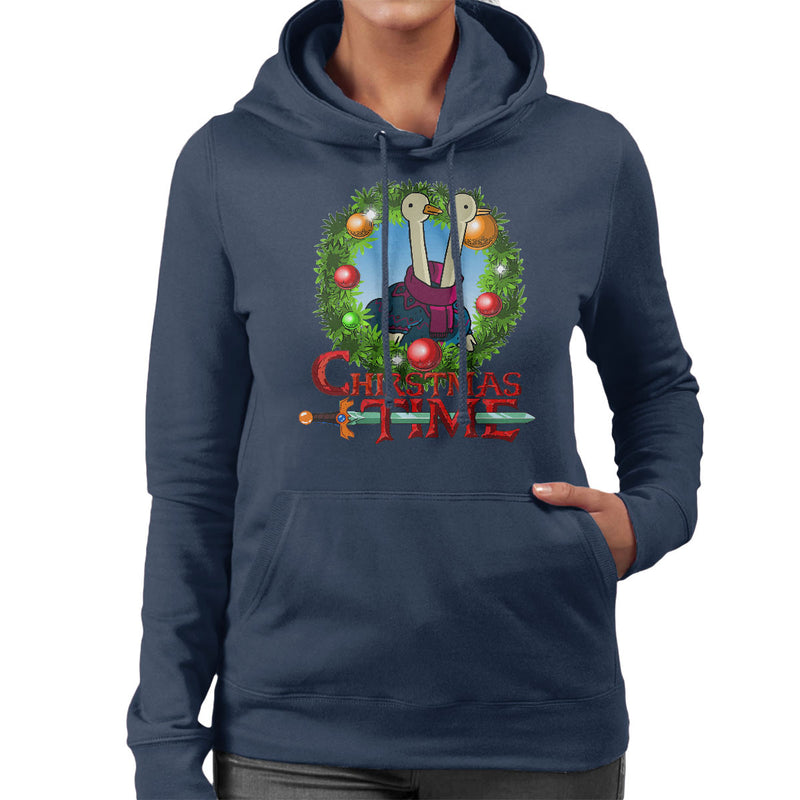 Adventure Christmas Time Wreath Two Headed Duck Cartoon Network Women's Hooded Sweatshirt by MacXi - Cloud City 7