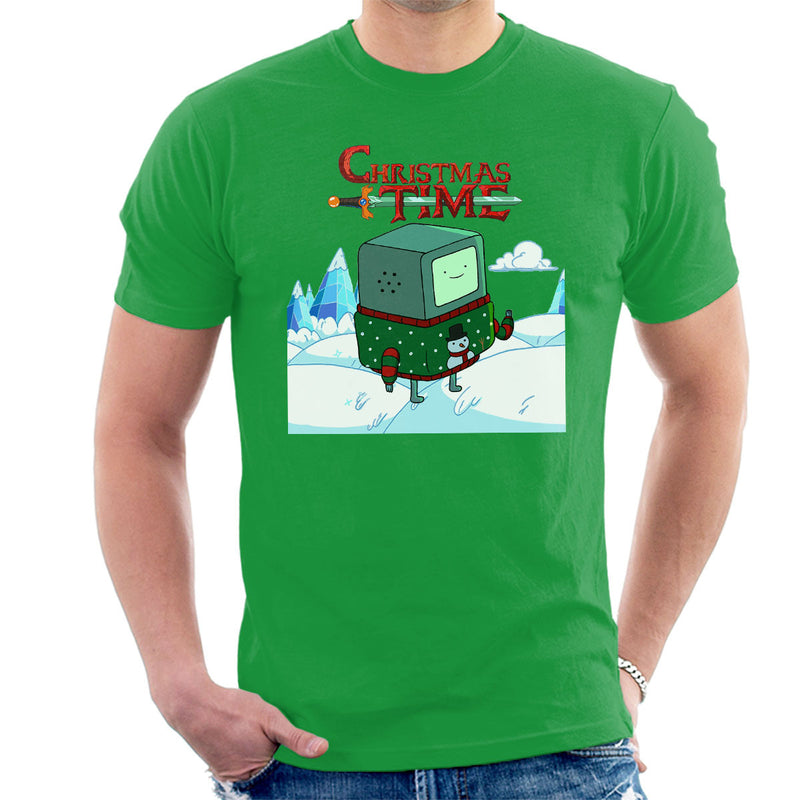Adventure Christmas Time Beemo Ice World Cartoon Network Men's T-Shirt by MacXi - Cloud City 7