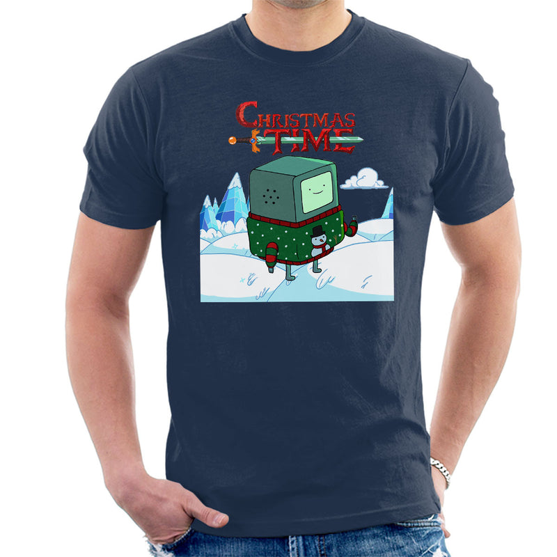 Adventure Christmas Time Beemo Ice World Cartoon Network Men's T-Shirt