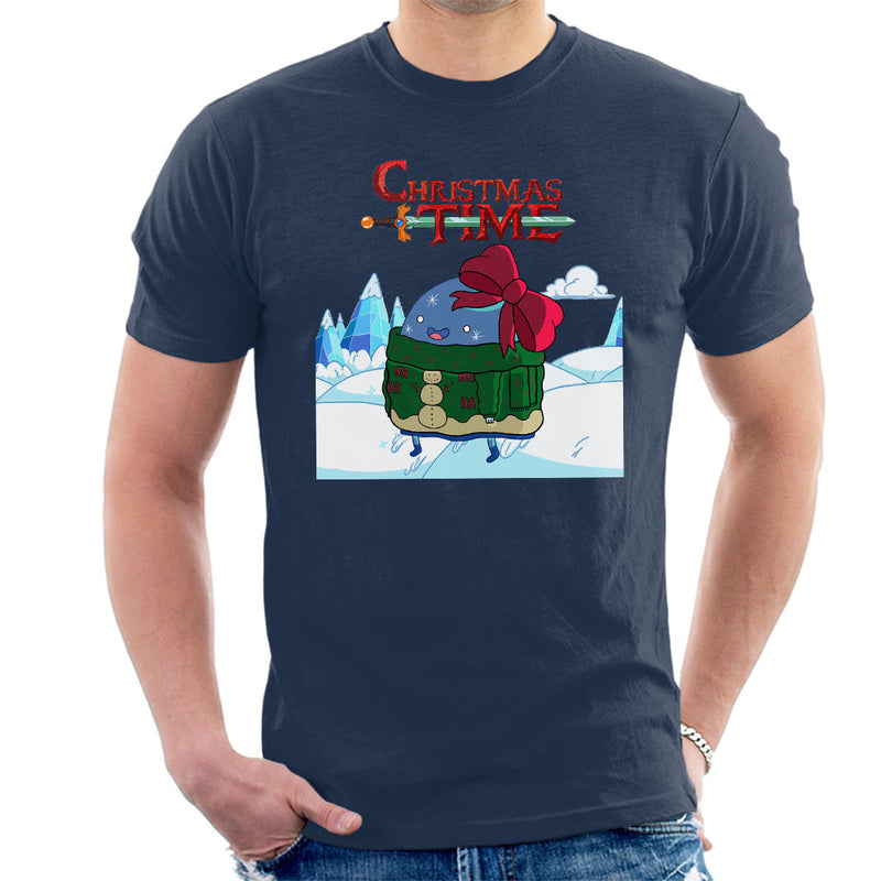 Adventure Christmas Time Bow Ice World Cartoon Network Men's T-Shirt