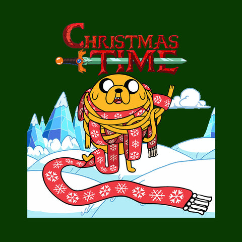 Adventure Christmas Time Jake Scarf Ice World Cartoon Network